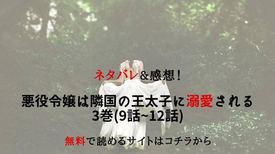 悪役令嬢は隣国の王太子に溺愛される|ネタバレ3巻(9話~12話)無料で ...